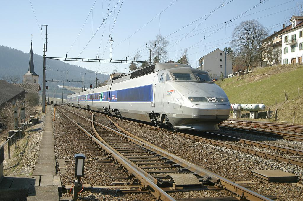 Photo d'une TGV, Prise à Travers le 14 mars 2003 11:30