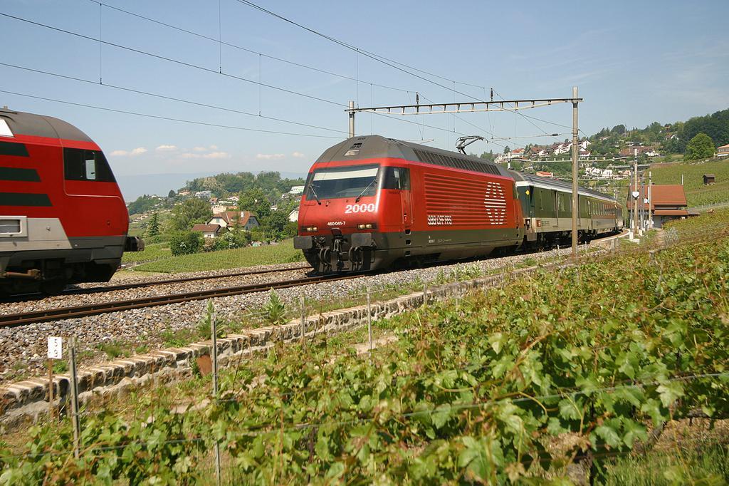 Photo d'une Re 460 000-118, Prise à Bossière le 8 juin 2004 11:30