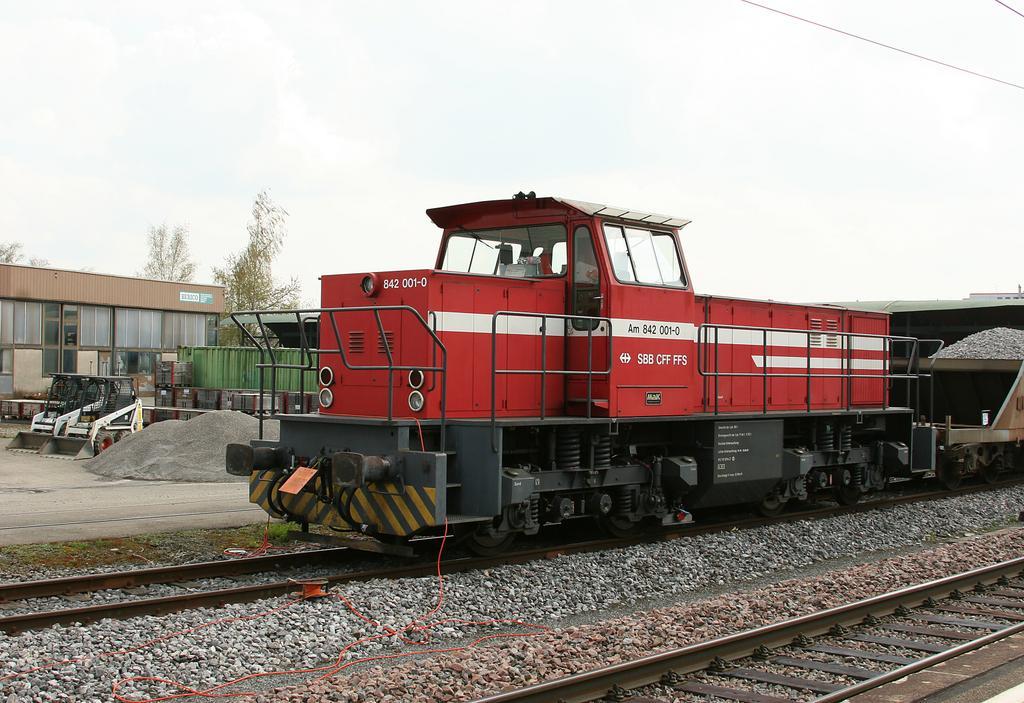 Photo d'une Am 842.0, Prise à Niederglatt le 21 avril 2005 02:55