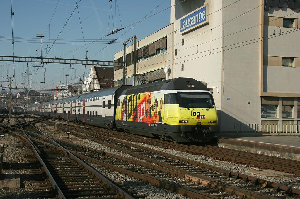 Photo d'une Re 460 000-118, Prise à Lausanne le 29 janvier 2008 12:31