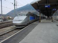 """photo d'une """"TGV"""" prise à Brig"""