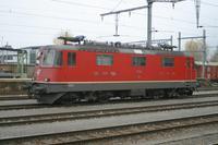 """photo d'une """"Re 420 (Re 4/4 II) 11156-11171 11173-11281 11283-11311 11313-11349 11371-11397"""" prise à Yverdon-les-Bains"""