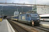 """photo d'une """"Re 465 001-018"""" prise à Biel/Bienne"""