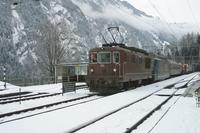 """photo d'une """"Re 4/4 161-195"""" prise à Blausee Zement"""