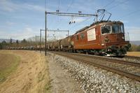 """photo d'une """"Re 4/4 161-195"""" prise à Busswil"""