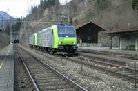 """photo d'une """"Re 485 ???"""" prise à Blausee-Mitholz"""