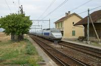 """photo d'une """"TGV"""" prise à Arnex"""