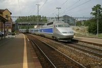 """photo d'une """"TGV"""" prise à Cossonay"""