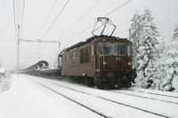 """photo d'une """"Re 4/4 161-195"""" prise à Kandersteg"""