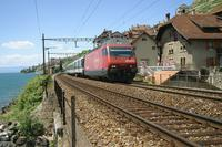 """photo d'une """"Re 460 000-118"""" prise à St-Saphorin"""