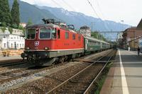 """photo d'une """"Re 420 (Re 4/4 II) 11156-11171 11173-11281 11283-11311 11313-11349 11371-11397"""" prise à Montreux"""