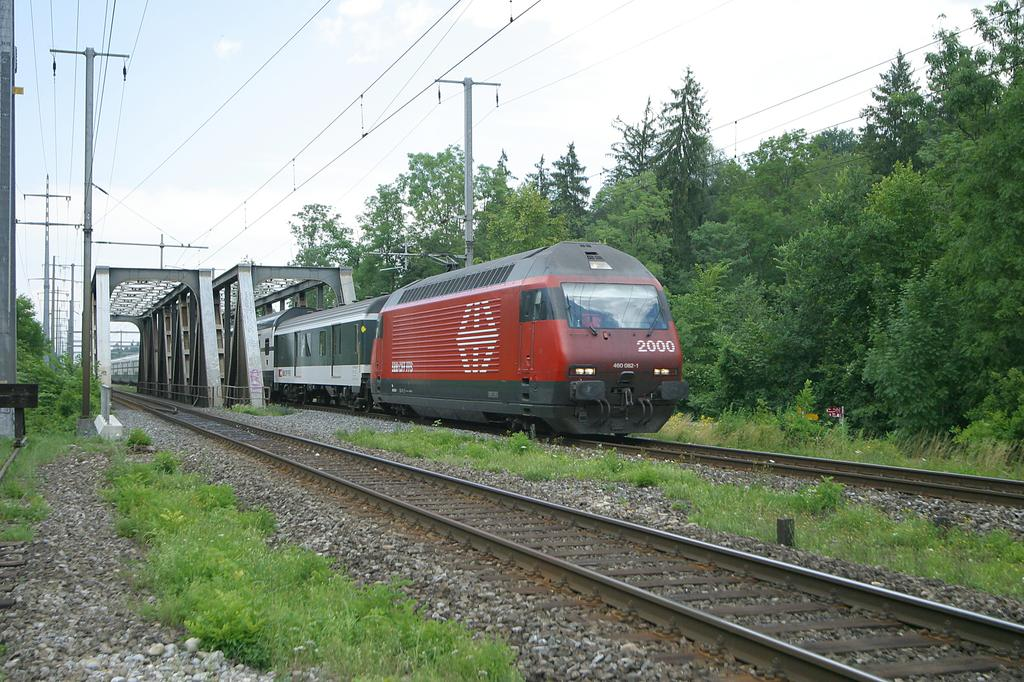 Photo d'une Re 460 000-118, Prise à Uttigen le 30 juin 2003 02:40