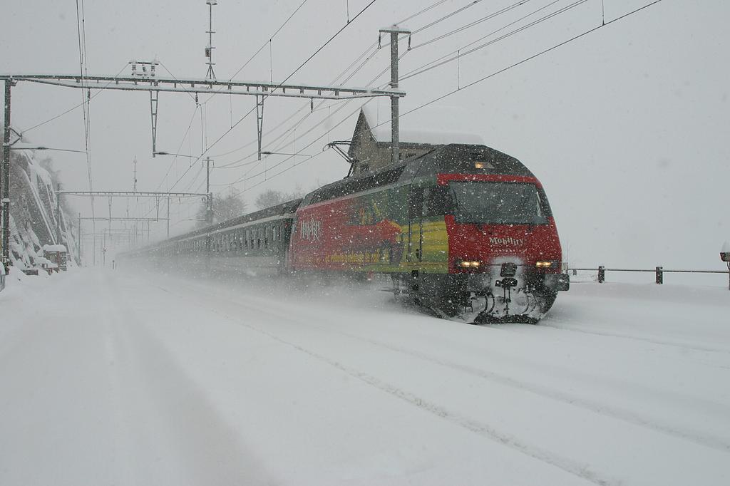 Photo d'une Re 460 000-118, Prise à Ausserberg le 20 janvier 2004 10:42