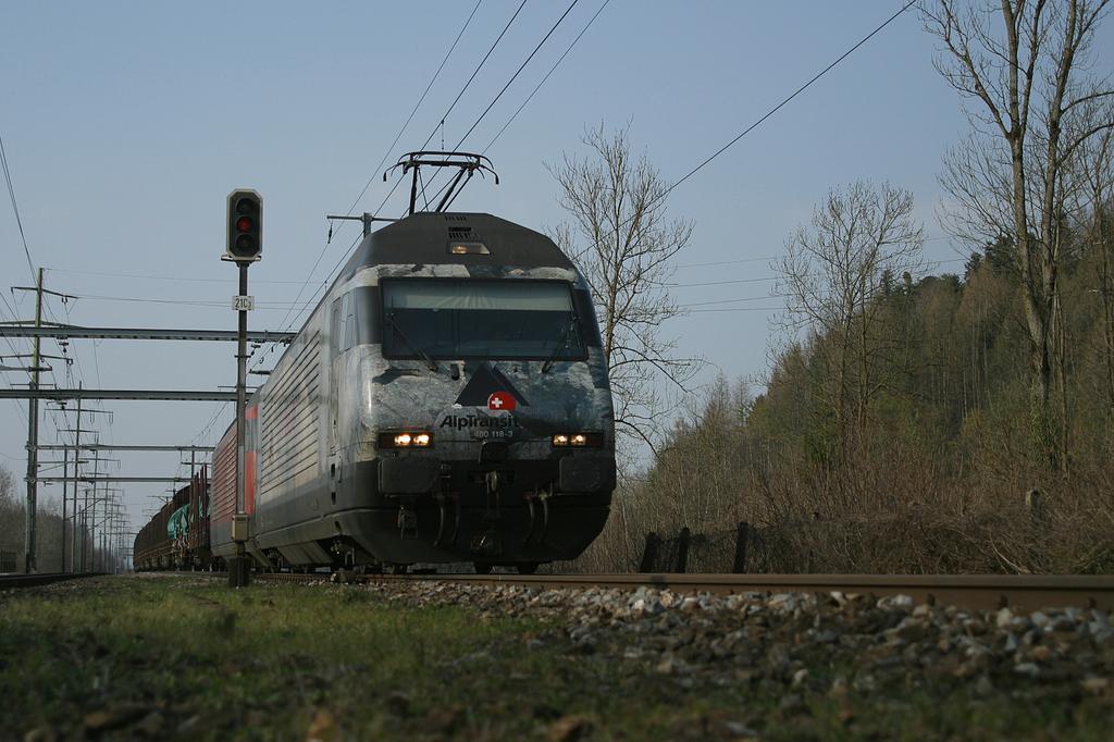 Photo d'une Re 460 000-118, Prise à Uttigen le 2 avril 2004 05:07