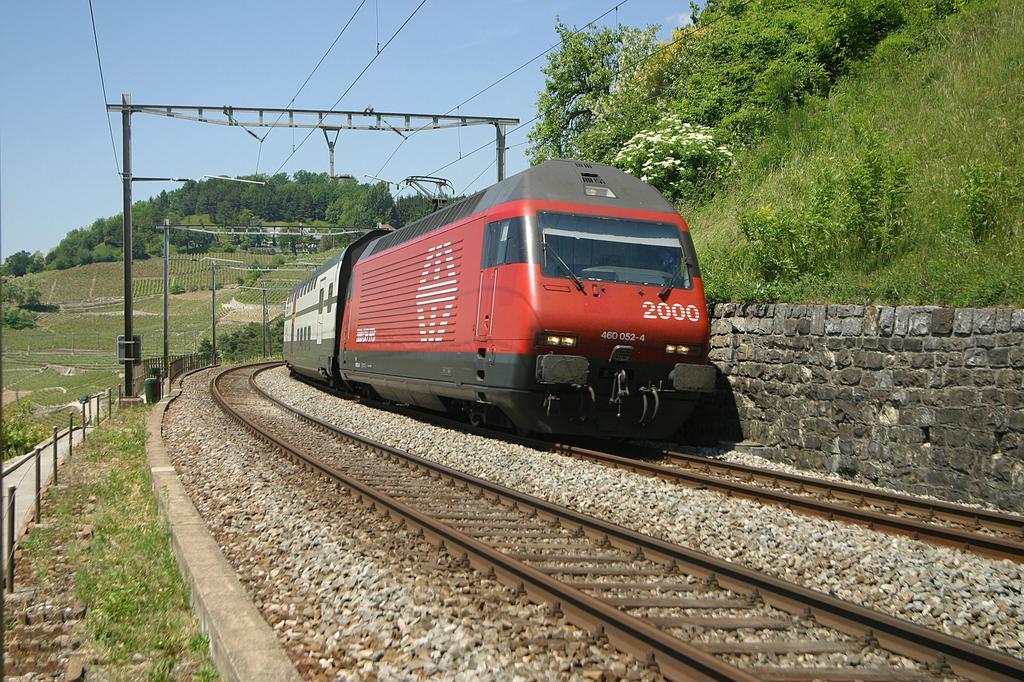 Photo d'une Re 460 000-118, Prise à Grandvaux le 8 juin 2004 02:11