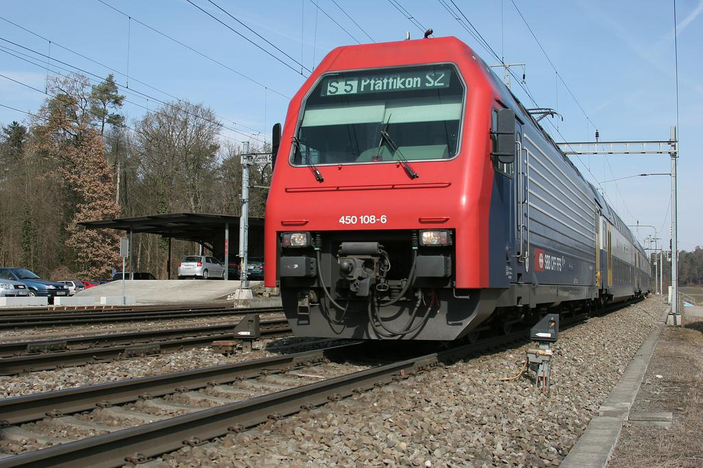 Photo d'une Re 450 000-114, Prise à Hüntwangen-Wil le 14 mars 2005 12:52