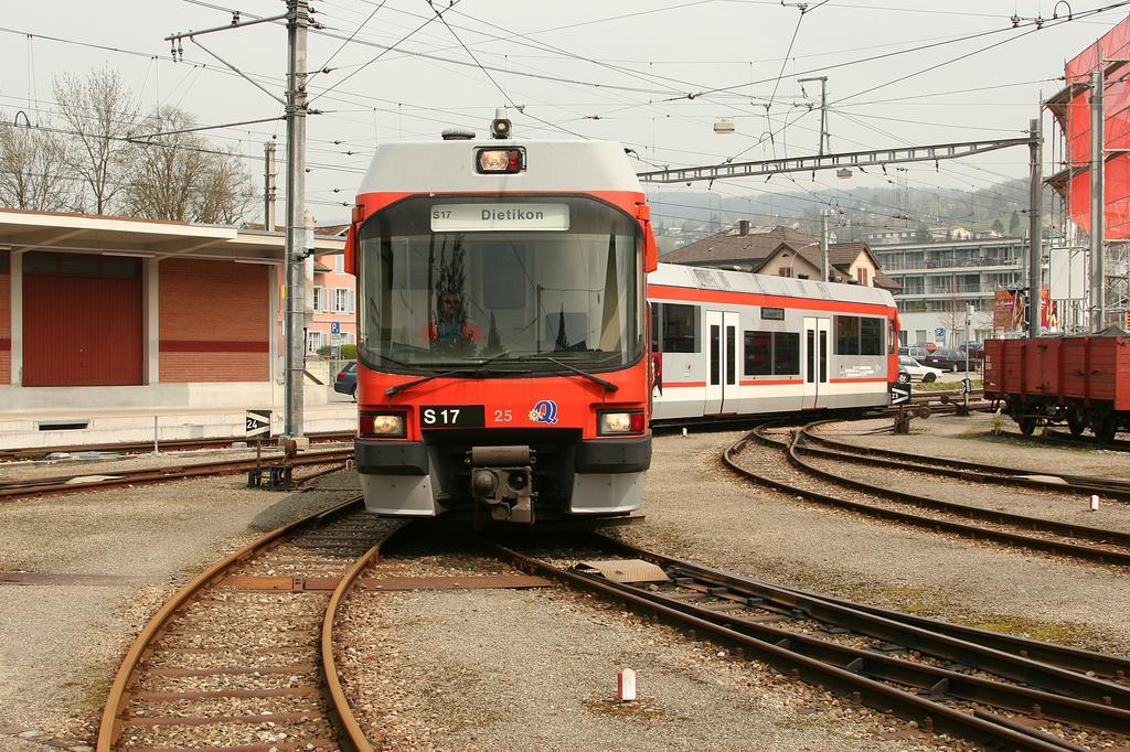 Photo d'une Be 4/8 21-25, Prise à Bremgarten le 13 avril 2005 12:49