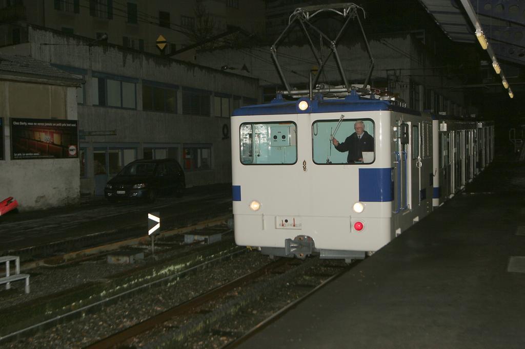 Photo d'une He 2/2 298, Prise à Lausanne-Ouchy le 17 janvier 2006 06:28