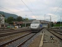 """photo d'une """"TGV"""" prise à Aigle"""