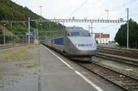 """photo d'une """"TGV"""" prise à Vallorbe"""
