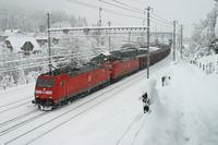"""photo d'une """"BR 185"""" prise à Kandersteg"""